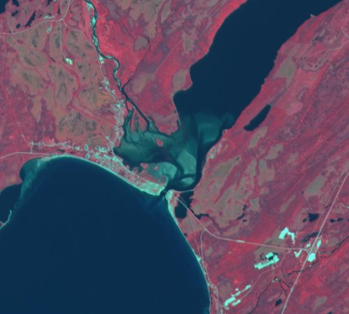 SPOT RGB False Color Composite 1, 2, 3